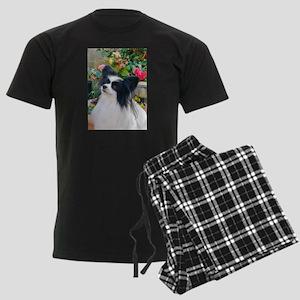 Papillon dog Men's Dark Pajamas