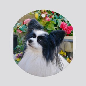 Papillon dog Round Ornament