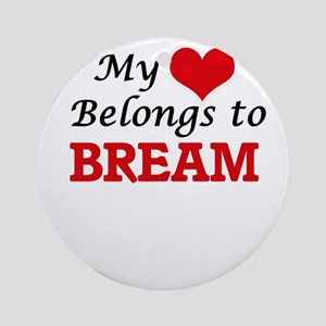 My Heart Belongs to Bream Round Ornament