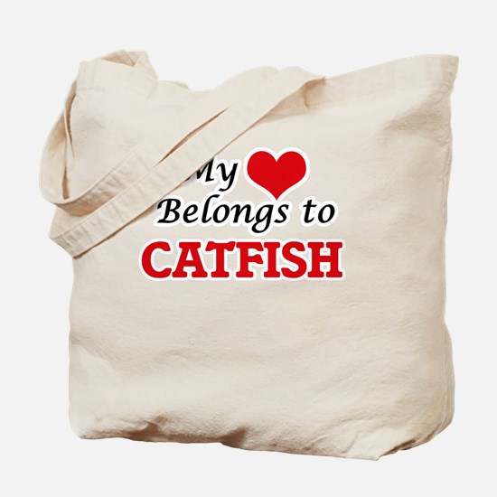 My Heart Belongs to Catfish Tote Bag