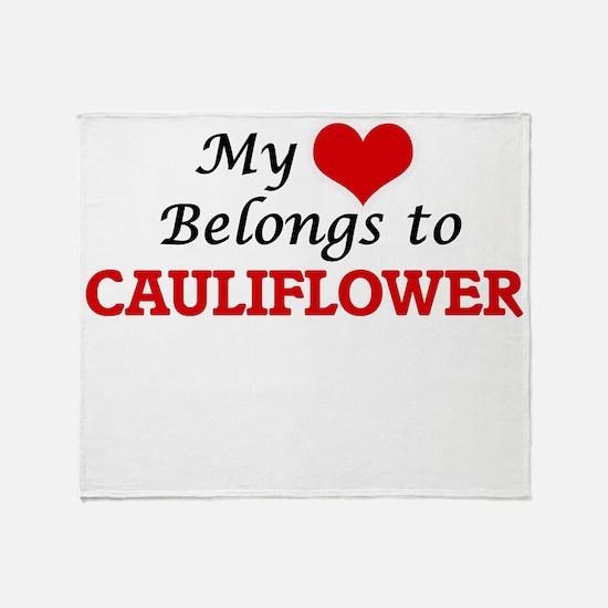 My Heart Belongs to Cauliflower Throw Blanket