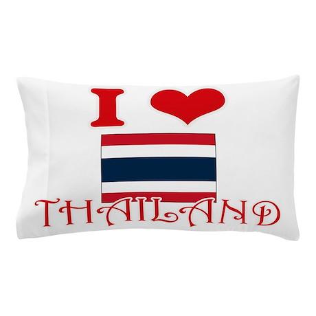 I Love Thailand Pillow Case