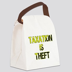 Taxation Is Theft Canvas Lunch Bag