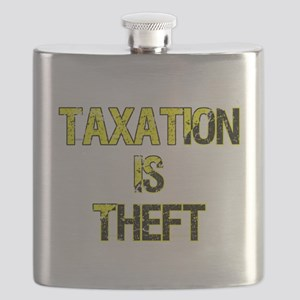 Taxation Is Theft Flask