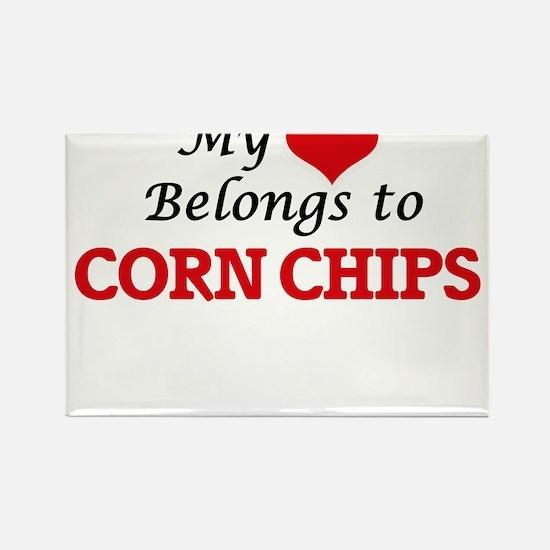 My Heart Belongs to Corn Chips Magnets