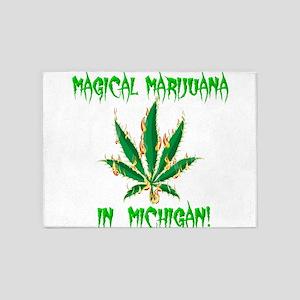 Magical Marijuana in Michigan 5'x7'Area Rug