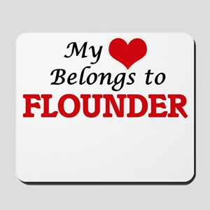 My Heart Belongs to Flounder Mousepad