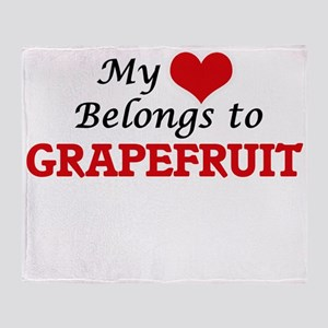 My Heart Belongs to Grapefruit Throw Blanket