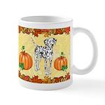 Dalmatian 'pumpkin Spice' Design Mugs