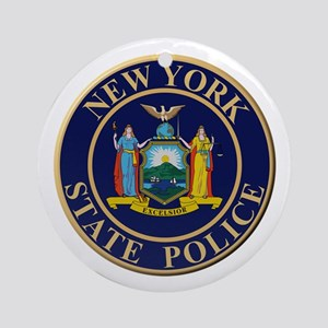 Police for the state of New York Round Ornament