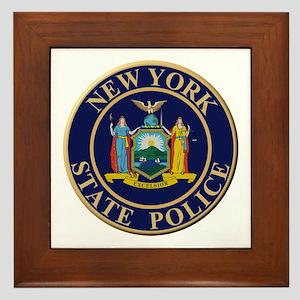 Police for the state of New York Framed Tile