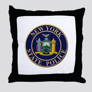 Police for the state of New York Throw Pillow