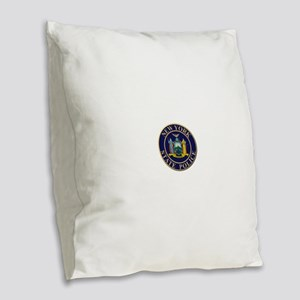 Police for the state of New York Burlap Throw Pill