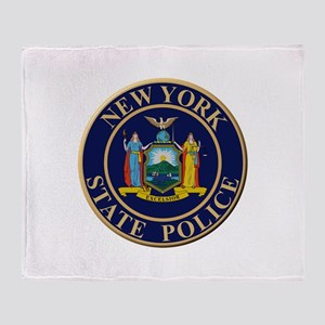 Police for the state of New York Throw Blanket