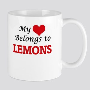 My Heart Belongs to Lemons Mugs
