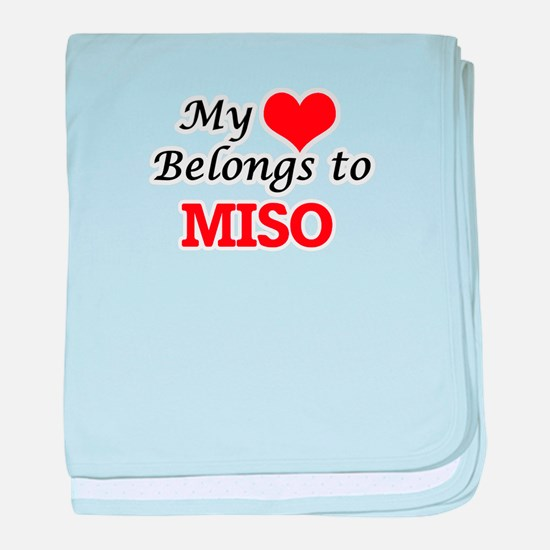 My Heart Belongs to Miso baby blanket
