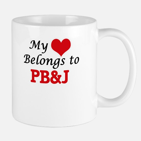 My Heart Belongs to Pb&J Mugs