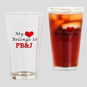 My Heart Belongs to Pb&J Drinking Glass