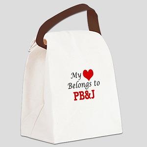 My Heart Belongs to Pb&J Canvas Lunch Bag