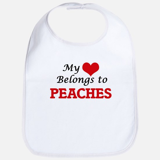 My Heart Belongs to Peaches Bib