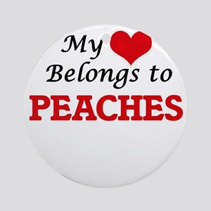 My Heart Belongs to Peaches Round Ornament