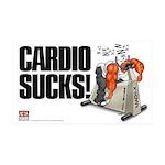 Cardio Sucks! 35x21 Wall Decal