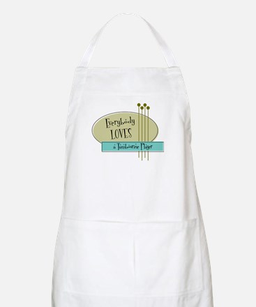 Everybody Loves a Tambourine Player BBQ Apron
