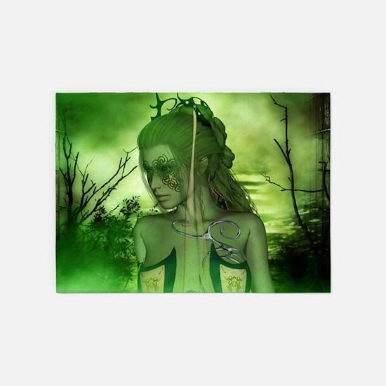Wonderful fairy in the night 5'x7'Area Rug
