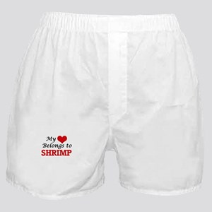 My Heart Belongs to Shrimp Boxer Shorts