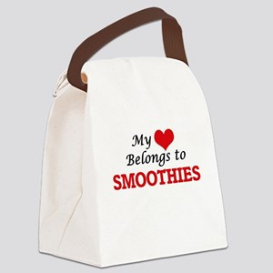 My Heart Belongs to Smoothies Canvas Lunch Bag