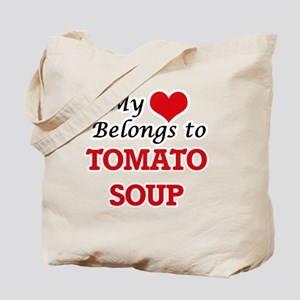 My Heart Belongs to Tomato Soup Tote Bag