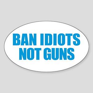 Ban Idiots Sticker