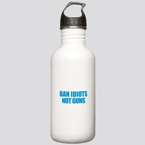 Ban Idiots Stainless Water Bottle 1.0L