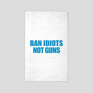 Ban Idiots Area Rug