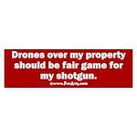 Drones R Fair Game Sticker (Bumper)