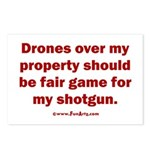 Drones R Fair Game Postcards (Package of 8)