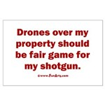 Drones R Fair Game Large Poster
