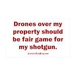 Drones R Fair Game 35x21 Wall Decal