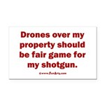 Drones R Fair Game Rectangle Car Magnet