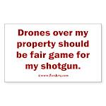 Drones R Fair Game Sticker (Rectangle)
