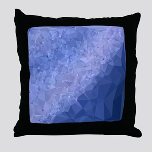 Steel Blue Abstract Low Polygon Background Throw P