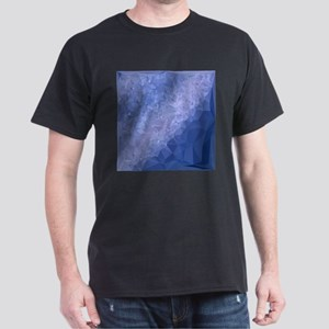 Steel Blue Abstract Low Polygon Background T-Shirt