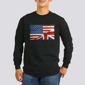 glitter usa uk Long Sleeve T-Shirt