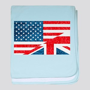 glitter usa uk baby blanket