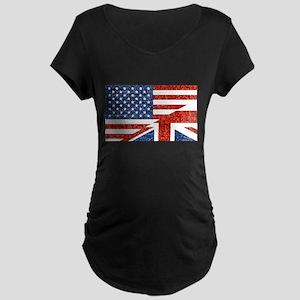 glitter usa uk Maternity T-Shirt