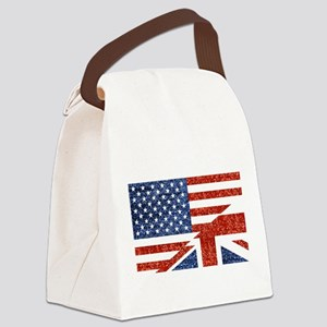 glitter usa uk Canvas Lunch Bag