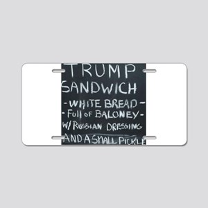 Trump Sandwich Aluminum License Plate