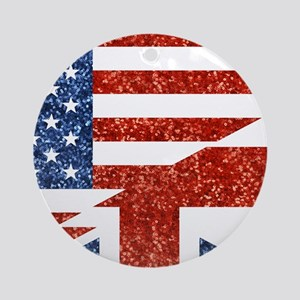 glitter usa uk Round Ornament