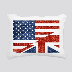 glitter usa uk Rectangular Canvas Pillow