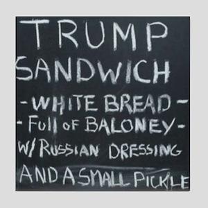Trump Sandwich Tile Coaster
